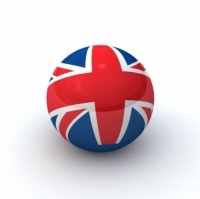 Uk Flag on Globe